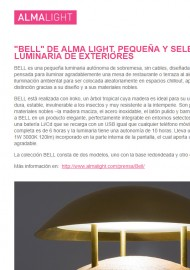 BELL by Alma Light, small and select outdoor luminaire