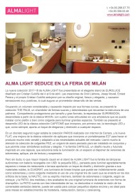 Alma Light seduce en Milan