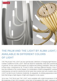The Palm y The Light de Alma Light, ahora disponibles en diferentes colores de luz