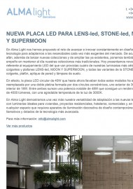 Nueva placa Led para Lens, Stone, Moon y Supermoon
