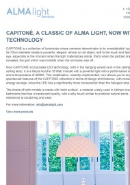 Capitone, a classic of Alma Light, now with Led technology