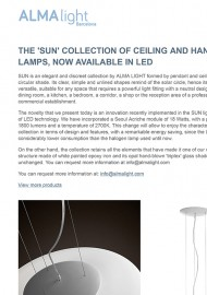 The Sun collection of ceiling and hanging lamps, now available in Led