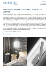 Alma Light presents Square now in Led version
