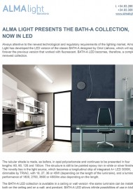 Alma Light presents the Bath A collection now in Led