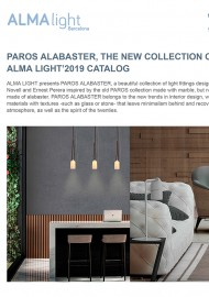 Paros Alabaster, the new collection of the Alma Light\\\'2019 catalog