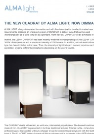 The new Cuadrat by Alma Light, now dimmable